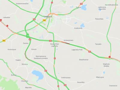 Seria wypadków na A4. Utrudnienia w rejonie Wrocławia