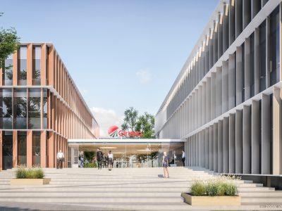 """""""Girteka"""" investuoja 60 mln. Eur į naują būstinę sostinėje. Naujame įmonės miestelyje dirbs 2500 žmonių"""