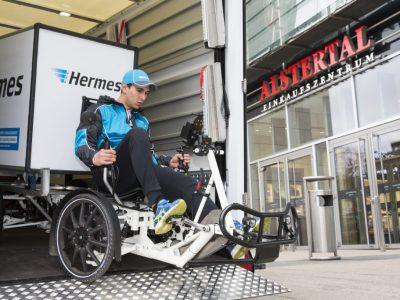 Hermes testet Einsatz von mobilen Mikrohubs