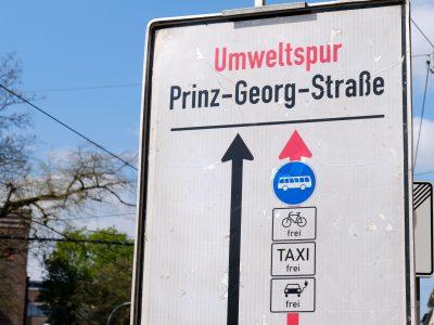 Düsseldorf führt Umweltspuren ein und will so Dieselfahrverbote verhindern