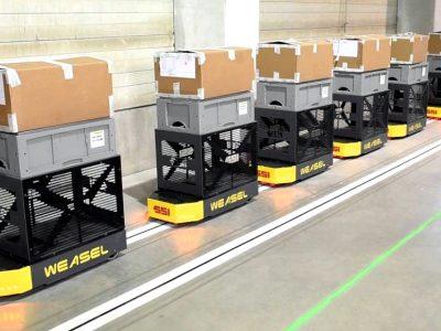 """Logistika 4.0 praktikoje. Kokie yra """"Weasel"""" transportavimo sistemos privalumai?"""