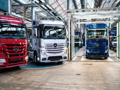 Serial production of the latest generation of Actros has started. Trucks without mirrors will soon be on the road.