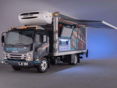 Isuzu presents a new truck. Beer lovers will be delighted