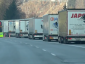 Tyrol: the fifth block check of the month. Lorries are already stuck in a long queue.