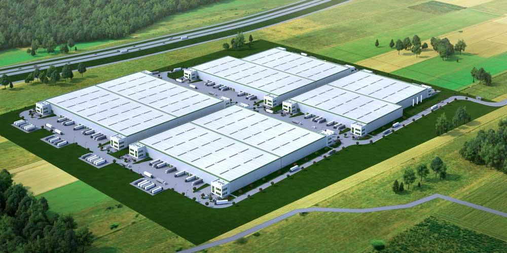 Ruszyła budowa nowego parku MLP pod Poznaniem. Centrum logistyczne będzie miało około 83 tys. mkw. Park będzie składać się z nowoczesnych budynków magazynowych klasy A. Pierwszy z nich powstanie dla InPostu i będzie gotowy w III kwartale br. Operator paczkomatów zajmie obiekt o powierzchni 8,5 tys. mkw, gdzie będzie m.in. magazyn typu cross-dock oraz powierzchnie biurowe i socjalne. Inwestycja zlokalizowana jest w Dąbrówce pod Poznaniem, tuż przy drodze ekspresowej S11, 3,5 kilometra od węzła autostrady A2 i w pobliżu drogi ekspresowej S5. MLP Poznań West leży także 10 km poznańskiego lotniska Ławica. Wizualizacja: MLP Group