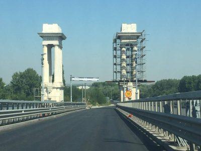 Vehiculele de transport persoane sunt scutite de la plata taxei de pod pe sensul Giurgiu-Ruse