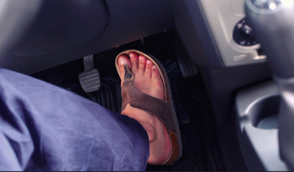£5000 and 9 penalty points for driving in flip-flops? Wearing loose shoes can be a problem in the UK