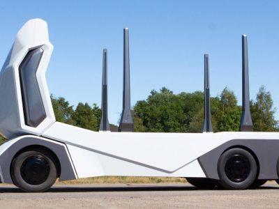 Nepilotuojamas sunkvežimis medienos gabenimui. Rinkoje jau per dvejus metus