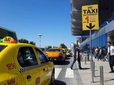 Control al taxiurilor din zona aeroporturilor soldat cu peste 1000 de sancțiuni și peste 25 de permise ridicate
