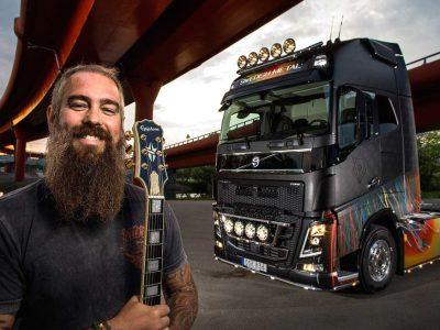 Heavy metalowe Volvo wystawione na aukcję. Razem z truckiem kupisz bilety na koncerty