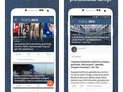 Trans.INFO programėlė: transporto pasaulis Jūsų telefone!