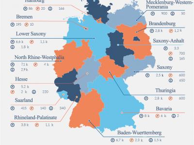 A német teherautó parkolók jövője. Ez a térkép mindent megmutat.