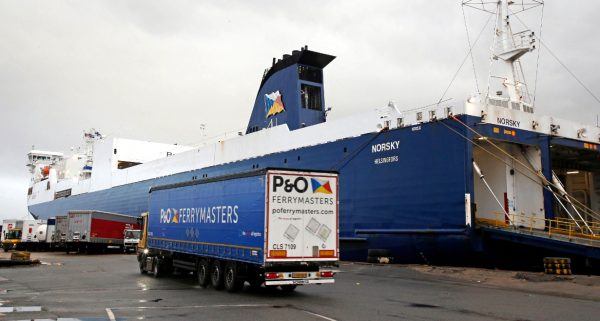 A freight ferry from France to nearly the heart of London