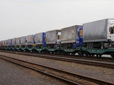 В Калининграде автомобильные прицепы поедут на железнодорожных составах