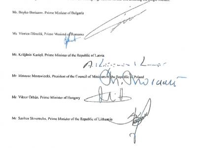 """Lietuvos, Bulgarijos, Latvijos, Lenkijos, Rumunijos ir Vengrijos premjerai kreipėsi į ES vadovybę dėl """"Mobilumo paketo"""" (laiško kopija)"""