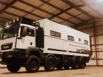 Luxury in a double-deck truck. Every driver's dream for 'only' $2 million