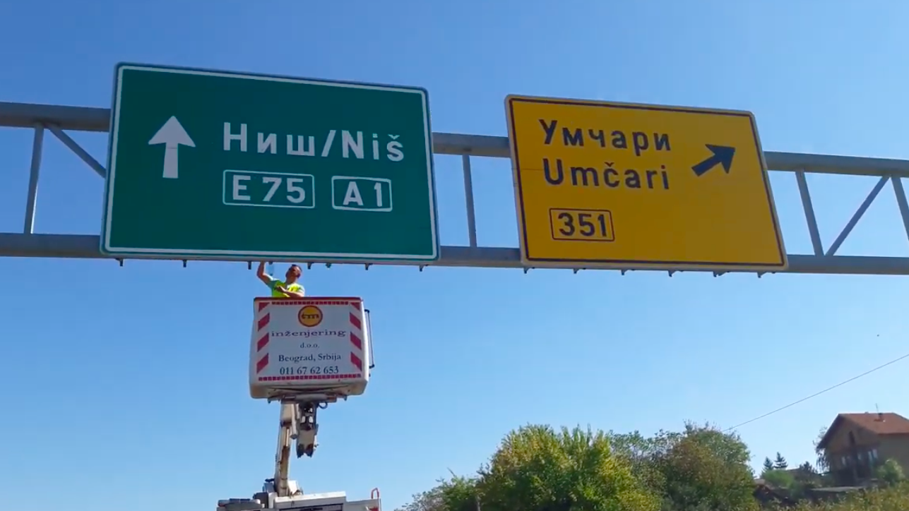 Cameras to watch over drivers in Serbia. They check speed and road tolls.