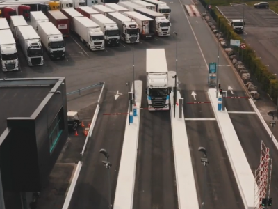 It's not just a successful marketing trick. Check out how the French parking lot helps truckers get to the local shops and services.
