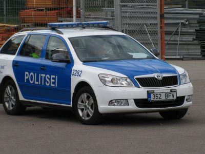 Unusual Estonian police tactics. Road hogs to lose not only their money but something much more valuable.