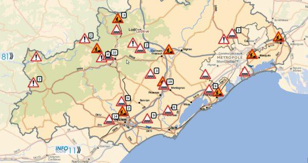 Ulewy i powódź zablokowały część dróg na południu Francji