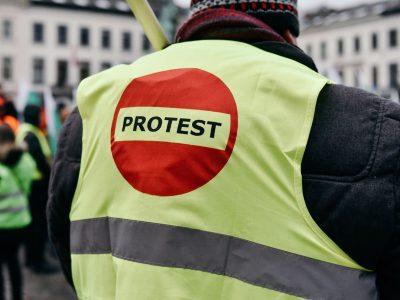 Protest litewskich przewoźników. Pogrzeb branży transportowej może spowodować utrudnienia ruchu w Wilnie