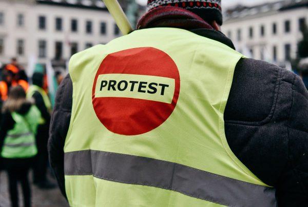 Protest litewskich przewoźników. Pogrzeb branży transportowej może spowodować utrudnienia ruchu w Wi