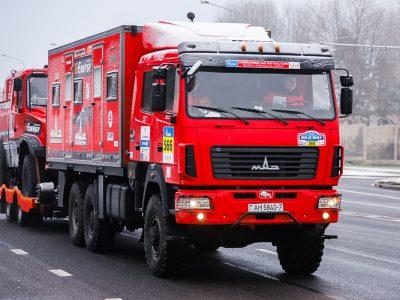 Белорусские МАЗы уже отправились на «Дакар» в Саудовскую Аравию