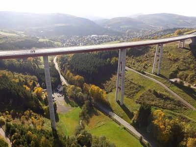 Check out the 115-metre-long viaduct opened in Germany. Other new motorway sections can also be used now.