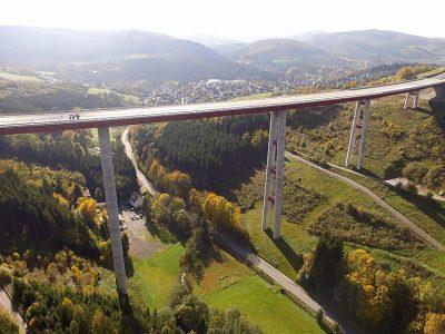 Otwarto nowe odcinki niemieckich autostrad, w tym wiadukt o wysokości 115 metrów