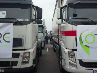 Massive protest in France: 150 km long congestion and traffic chaos.