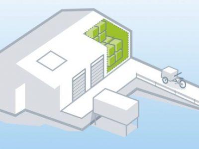 A mikroraktár az ideális megoldás a városi kiszállításhoz. Így gondolják a németországi szakemberek.