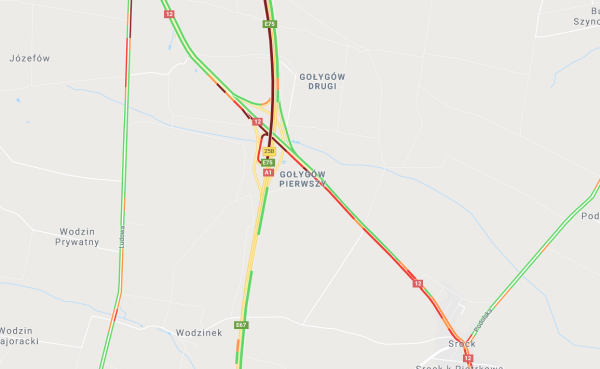 Poważne utrudnienia na A1. Autostrada czasowo zamknięta w obu kierunkach