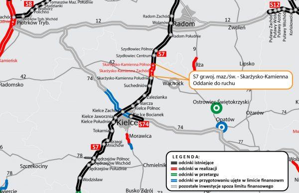 Dziś zniknie wąskie gardło na ekspresówce w kierunku Warszawy