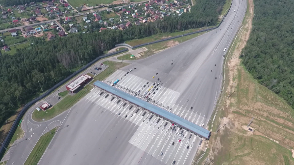 New motorway between Moscow and St. Petersburg is now open. You can drive 720 km in 6.5 hours.