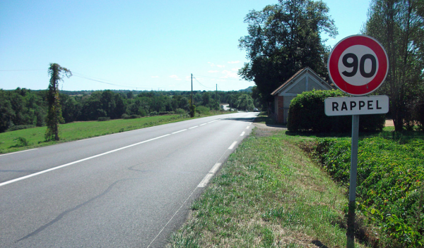 Some French regions increase the maximum speed limit