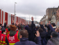 France: trade unionists protesting and blocking entry to port terminals