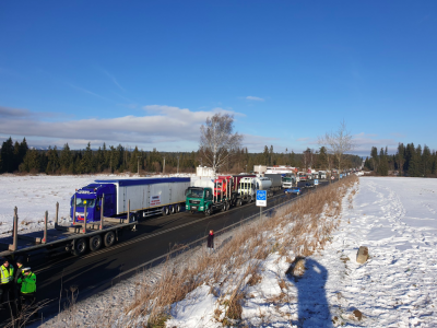 Grevă a transportatorilor slovaci. Puncte de trecere a frontierelor blocate