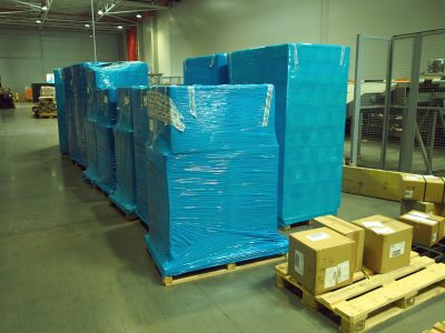 Pallet wrapping robot uses less film than humans