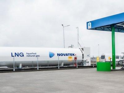 Uroczyste otwarcie stacji tankowania LNG na parkingu Epo-Trans wKrzywej