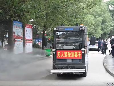 Autonomiczna ciężarówka pomaga Chińczykom w walce z koronawirusem