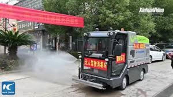 An autonomous truck helps the Chinese fight coronavirus