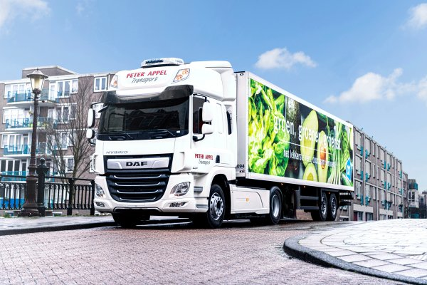 Road tests of the hybrid DAF truck. The Dutch supermarket supplier will give it a try