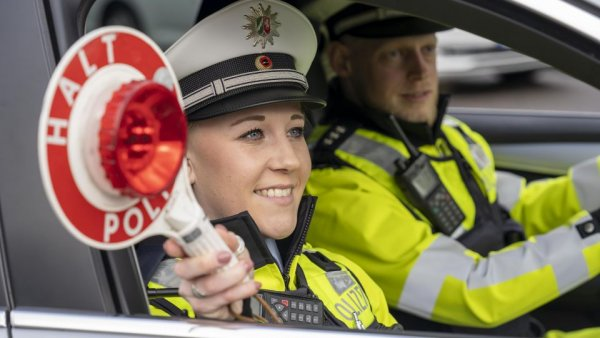 German police caught a driver engaged in uncommon transport