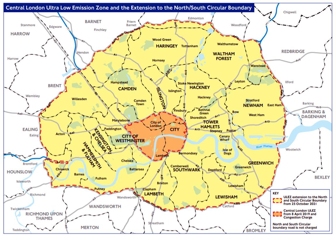 Didžioji Britanija nusprendė laikinai atšaukti mokėjimus už įvažiavimą į mokamas Londono zonas ir į abi Žemo išmetimo zonas (Low Emission Zone – LEZ). Sprendimas įsigaliojo 2020 m. kovo 23 d. ir galioja iki atšaukimo. Taip siekiama išlaikyti tiekimo grandines ir prekių tiekimą į Londono parduotuves.