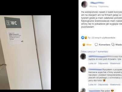 Skandaliczna sytuacja – kierowcy nie mogą skorzystać publicznych toalet