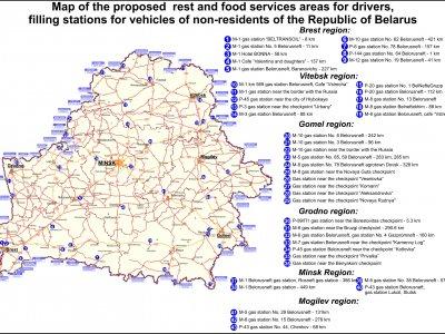 Białoruś wprowadza ograniczenia dla zagranicznych kierowców ciężarówek. Postój tylko w wyznaczonych miejscach [MAPA]