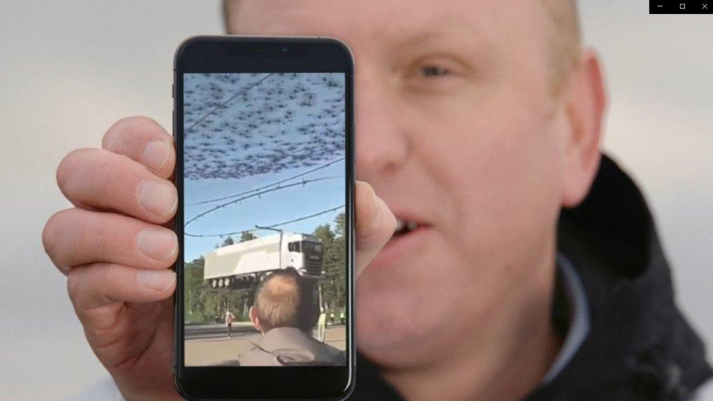 Cum a ridicat Scania un camion cu 2000 de drone