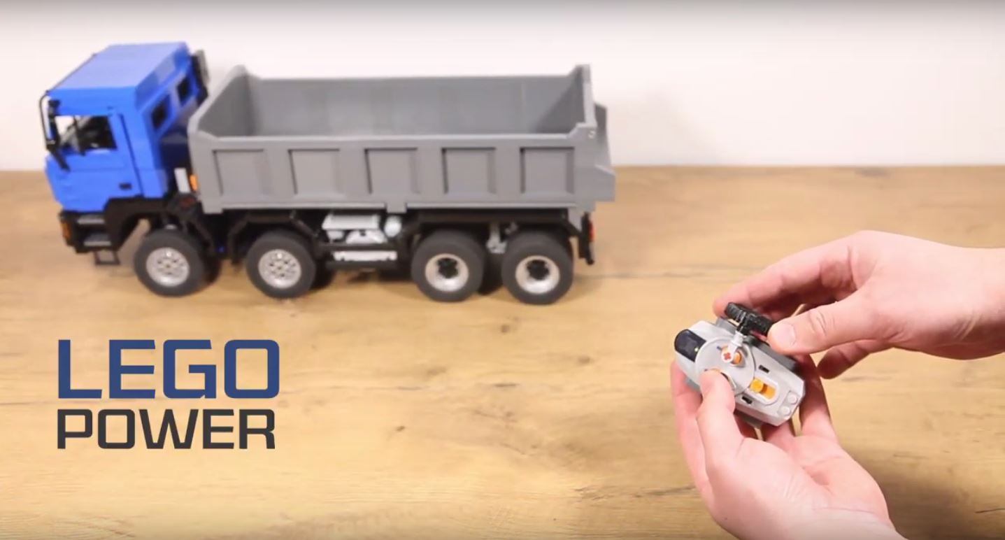 This MAN F90 tipper truck made of LEGO bricks will brighten your day