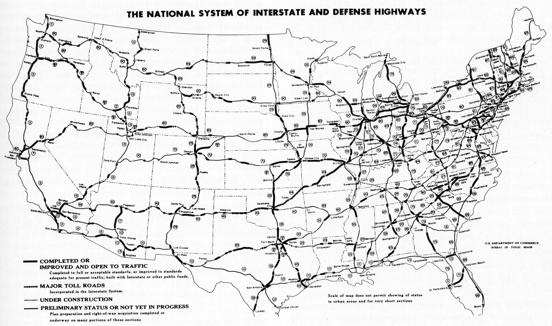 Historia transportu – odc. 110. O korzyściach, jakie dały Amerykanom inwestycje w międzystanowe autostrady