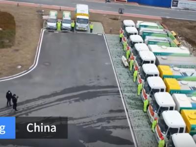 Un camion autonom ii ajuta pe chinezi sa lupte cu Coronavirus